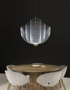 Playful Transparencies Cascade Through The Lamp's Ingenious Frame - Moooi Meshmatics Chandelier Designed by Rick Tegelaar Bedroom Lighting, Interior Lighting, Lighting Design, Bedroom Ceiling, Luxury Chandelier, Chandelier Lighting, Moooi Lighting, Vintage Chandelier, Landscaping