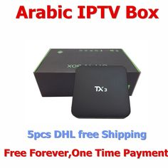 460.00$  Buy now - http://alimc2.worldwells.pw/go.php?t=32747477463 - Free Shipping 5 pcs Free Forvever Arabic IP TV BOX 4K Android 5.1 Arabic IPTV 16.0 KODIOS