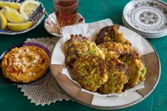 Zucchini and Chick Pea Fritters with Sweet Potato