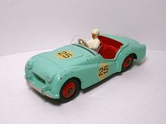Dinky Toys 111 Triumph TR2 Competition.Turquoise/Red Hubs No25.