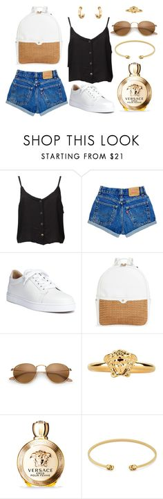 """""""A golden summer"""" by maja-kristiansson on Polyvore featuring Christian Louboutin, Versace, Gucci and Cartier"""