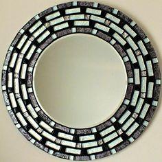Beautiful Handmade Mosaic Mirror Bevelled by MirorMirorOnTheWall