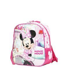 Sac à dos Disney Minnie Chambre 25 cm pour la maternelle Rose