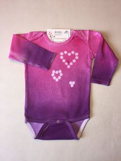 newborn baby girl gown coming home outfit hand dyed hand painted fancy flowers over dye one of a kind purple violet by bykarinkim on etsy pinterest