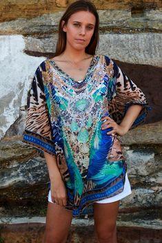 35491e9afb02 Details about Top kaftan long boho plus size beach throw cape wrap print plus  size