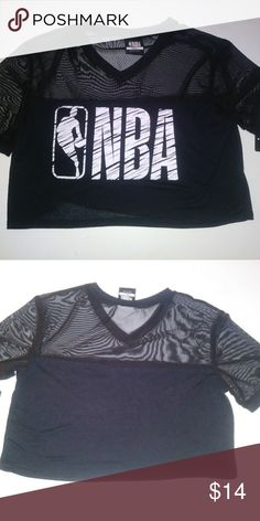 138b9ac90ee79 NBA Crop Top NWT Black S Shirt Gym Jersey Workout This is a brand new with