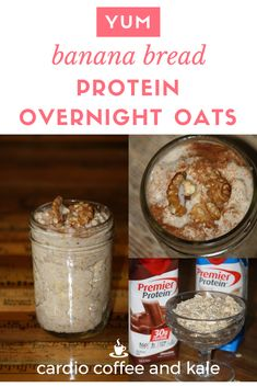 not just for breakfast! — cardio coffee and kale Protein Overnight Oats, Overnight Oats In A Jar, Bariatric Eating, Bariatric Recipes, Bariatric Surgery, Breakfast Food List, Breakfast Recipes, Paleo Breakfast, Mexican Breakfast