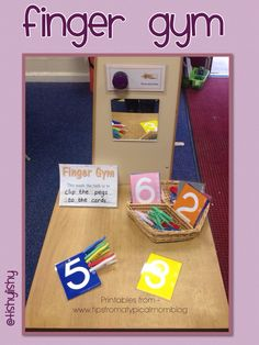 Peg the amount onto the card. Free printable from http://www.tipsfromatypicalmomblog.com/2013/08/teach-kids-numbers-free-printable.html