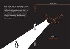 George Orwell's 1984 - Book cover in Contemporary Style (Penguin Books) of George Orwell 1984 Book, Contemporary Style, Modern, Penguin Classics, Penguin Books, Book 1, Book Covers, My Design, Writing