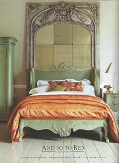 Mirror above bed Painted Beds, Painted Bedroom Furniture, Comfy Bedroom, Master Bedroom, Interior Design Pictures, Above Bed, Contemporary Bedroom, Beautiful Bedrooms, New Room