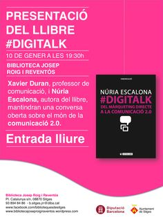 #DigiTalk a Sitges. Cartell de convocatòria. 10 de Gener de 2014 a les 19:30. Biblioteca Josep Roig i Reventós