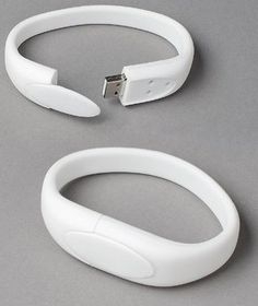 White Wristband USB Flash Memory Drive 16GB. Want it? Own it? Add it to your profile on unioncy.com #gadgets #tech #electronics