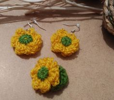 Check out our party favors selection for the very best in unique or custom, handmade pieces from our shops. Crochet Earrings, Etsy, Jewelry, Yarn Flowers, Wool Yarn, Earrings, Winter, Hand Made, Jewlery