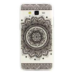 JIAXIUFEN TPU Coque - pour Samsung Galaxy Grand Prime G530/G530H/G530FZ/G5308W/G5309W/G5306W - Henna Black Million Spent Ethnic Tribal