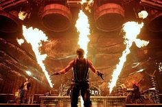 Rammstein. Till Lindemann (Lead Singer) is one of their pyrotechnics. I wanna start a fire with him. It will be professionally done. <3