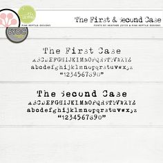 The First & Second Case | Fonts by Pink Reptile Designs! 20% off thru Jan. 4th at 11:59 PM! #pinkreptiledesigns #font