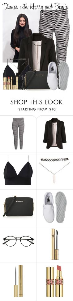 """45. Dinner with Harry and Benjie"" by queenxxbee ❤ liked on Polyvore featuring WithChic, Wet Seal, MICHAEL Michael Kors, Vans, D&G and Yves Saint Laurent"