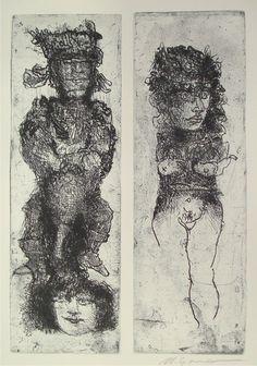 Marcello Grassmann, The last print. Etching