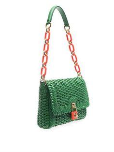 Dolce Gabbana Basketweave leather shoulder bag 78a2a9b415343