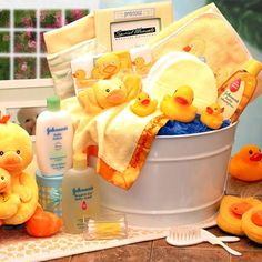Bath Time!Cute idea for a baby shower http://www.pinterest.com/source/cornerstorkbabygifts.com/
