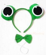 XMAS New Style Costume Cute Joyful Green Frog 2 Piece Set in Headband, Tie