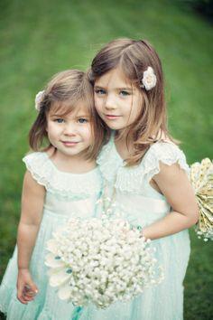 rustic flower girls