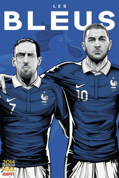 Fifa world cup 2014 france - ribery7 and benzema10 - les bleus