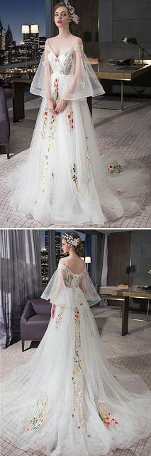 Tulle prom wedding dress