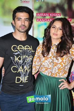 Saqib Saleem & Huma Qureshi at the Screening of Hindi movie 'Katti Batti' at Light Box in Mumbai