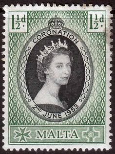 Malta Queen Elizabeth II 1953 Coronation Fine Mint SG 261 Scott 241 For sale £0.56 Other Malta Stamps HERE