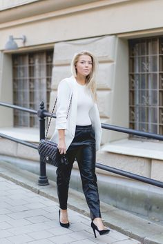 P.S. I Love Fashion // Black & White Street Style