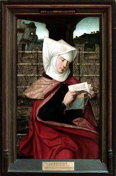 Jan Provost (c. 1465-1529) :  Emérencie, mere de sainte Anne  (in the Louvre, Paris)