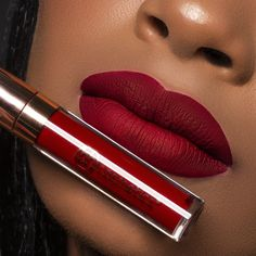 💕 Our gorgeous model is a stunning siren with our Liquid Linen collection in the shade Maria. You can't go wrong with red… Best Lipstick Brand, Best Lipstick Color, Lipstick For Dark Skin, Burgundy Lipstick, Best Lipsticks, Lipstick Colors, Lip Colors, Lipstick Art, Dark Lips