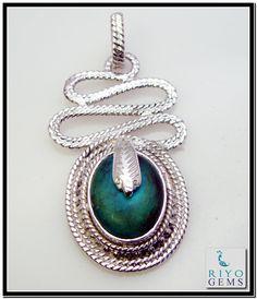 Turquoise Silver Pendant Earring Set Riyo Gems www.riyogems.com