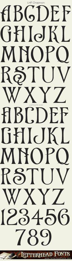 Letterhead Fonts / LHF Chapman font / Victorian Fonts