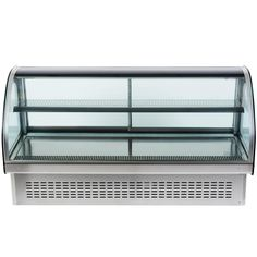 """This Vollrath 40844 60"""" curved glass refrigerated display cabinet features an attractive base that allows the unit to be installed into a counter as a drop in that blends seamlessly into your establishment, <i>or</i> as a countertop unit for optimum flexibility and space-saving efficiency! Perfect for whipped cakes, pies, creamy pastries and other chilled treats, it boasts a digitally controlled thermostat that provides precise, consistent performance at temperatures ran..."""