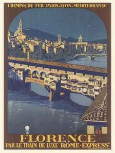 size: Giclee Print: Travel Poster For Florence by Found Image Press : This exceptional art print was made using a sophisticated giclée printing process, which deliver pure, rich color and remarkable detail. Party Vintage, Pub Vintage, Florence Art, Florence Italy, Rome, Illustrations, Vintage Travel Posters, Paris, Plan Your Trip