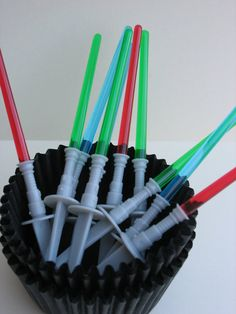 Star Wars Light Saber Cupcake Toppers 12 pcs by CupcakeSupply, $3.50