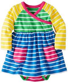 Stripe Happy Crossover Dress Set from #HannaAndersson. (Hanna Anderson 0m-3 1/2y)