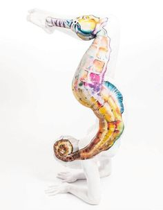 Bodypainting Body Art by Gesine Marwedel, German artist. Animal Paintings, Art Paintings, Painting Art, Seahorse Painting, Painting Prints, Photographie Art Corps, Johannes Stoetter, Body Art Photography, Painting Tattoo