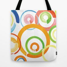 watercolor circles  Tote Bag by studiomarshallarts - $22.00