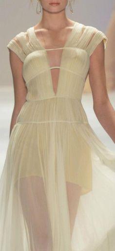 Grecian Gathers make an elegant gown at Tadashi Shoji