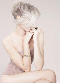 pale wispy blonde
