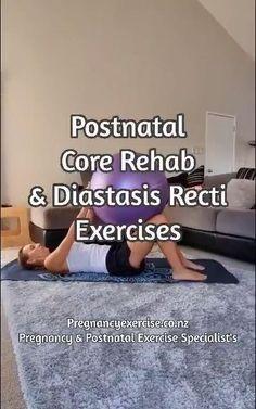 Post Baby Workout, Post Pregnancy Workout, Mommy Workout, Pregnancy Health, Fitness Workout For Women, Abdominal Diastasis, Diastasis Recti Exercises, Pelvic Floor Exercises, Postnatales Training