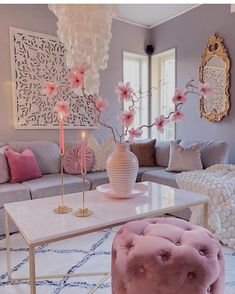 are in the mood for eclectic interior design.We are in the mood for eclectic interior design. Living Room Decor Cozy, Pink Living Rooms, Blush Pink Living Room, Pastel Living Room, Living Spaces, Living Room Themes, Glam Living Room, Bedroom Decor, Wall Decor