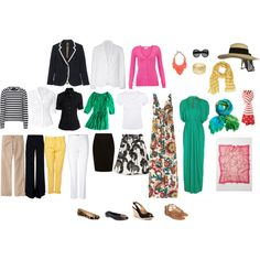 What to pack for vacation, created by rebeccaluweka on Polyvore