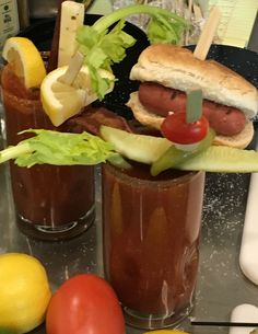 Wow!...Want one of these virgin Bloody Mary's?  Stop at Midway's Halsted Street Tap near gate A5.