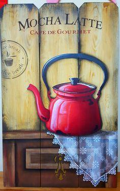 Sem explicação essa pintura...WONDERFUL... LOVED Collages D'images, Reclaimed Wood Kitchen, Tea Art, Decoupage Paper, Vintage Labels, Coffee Art, Kitchen Art, Grafik Design, Vintage Pictures