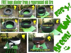 How to get rid of an old tire and get a new huge planter... - Democratic Underground
