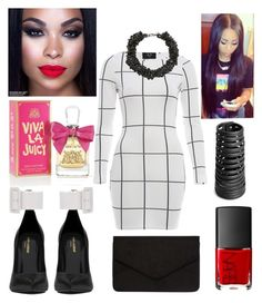 Grid Print by virtuousvessel on Polyvore featuring polyvore, fashion, style, AX Paris, Yves Saint Laurent, Dorothy Perkins, Rick Owens, Alienina, Juicy Couture and NARS Cosmetics